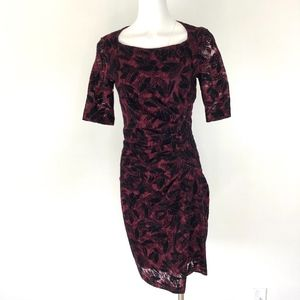 Maeve | Anthro Lace & Velvet Sheath Dress